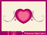 Link toHeart and scrolls vector free