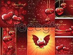 Link toHeart background pattern vector