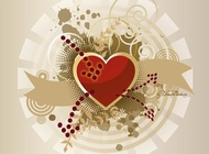 Link toHeart banner vector graphics free