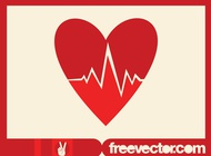 Heart cardiology icon vector free