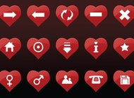 Link toHeart icons vector free