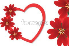 Link topack vector patterns flower border Heart-shaped