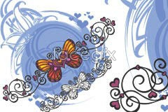 Link toHeart-shaped butterfly trend element vector
