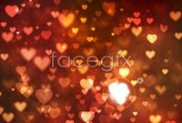 Link toHeart-shaped decorations background vector