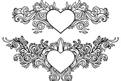 Link toHeart-shaped decorative pattern vector