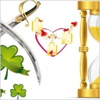 Link toHeart-shaped leaves and funnel-knife vector material