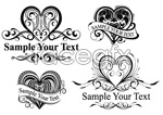 Link toHeart-shaped pattern lace vector