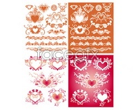 Link toHeart-shaped pattern with lace vector