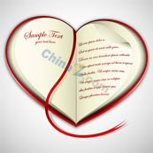 Heart-shaped portable text background vector