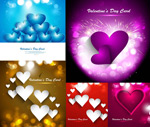 Heart-shaped spot bokeh vector