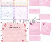 Link toHeart-shaped stationery vector
