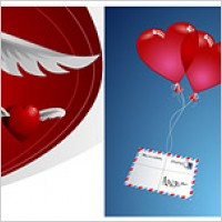 Link toHeart-shaped theme of the vector material-2