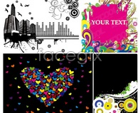 Link toHeart-shaped urban elements in current trends building vector