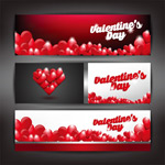 Link toHeart-shaped valentine's banners vector