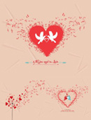 Link toHeart-shaped valentines vector