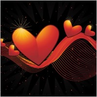 Link toHeart-shaped vector -2 dynamic lines background