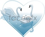 Link toHeart-shaped white swan vector