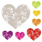 Link toHeart with floral ornament vector free