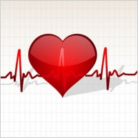 Link toHeart with life line vector