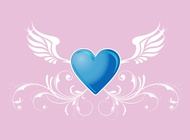 Link toHeart with wings vector free
