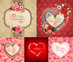 Link toHearts flowers and borders vector