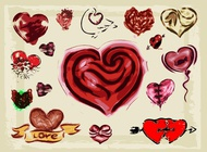 Link toHearts illustrations vector free
