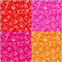 Link toHeartshaped pattern vector background