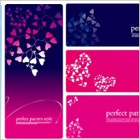 Link toHeartshaped pattern vector consisting of