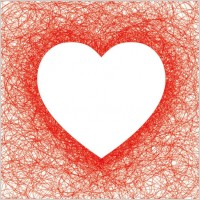 Link toHeartshaped red line vector