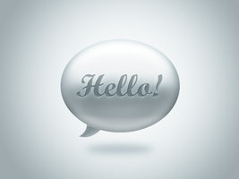 Link toHello - bubble speech icon free psd