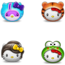 Link toHello kitty bumper icons