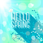 Link toHello spring background vector