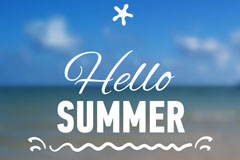 Link toHello summer sea background vector