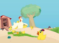 Link toHen with chicks vector free