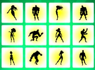 Link toHeroes silhouettes vector free