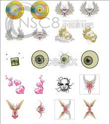 Link toHeterogeneous series of the eyeball icon