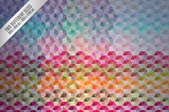 Link toHexagon mosaic magic background vector