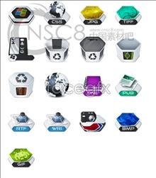 Link toHexagonal system desktop icons