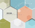 Link toHexagons and colorful background vector