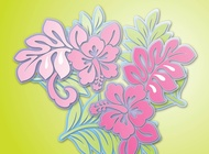 Link toHibiscus flowers vector free