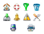 Link toHigh quality realistic icons