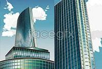 Link toHigh-rise office space vector