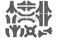 Link toHighway intersection vector graphics