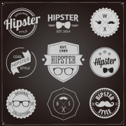 Link toHipster style badges and labels vector graphics 01 free
