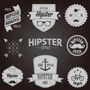 Link toHipster style badges and labels vector graphics 04 free