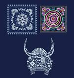 Link toHmong batik embroidery vector