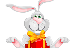Link toHold boxes of long-eared rabbit vector