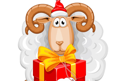 Link toHold gift set sheep cartoon vector