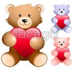 Link toHold heart-shaped teddy bear vector