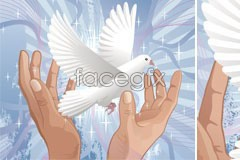 Link tovector theme peace of doves Holding